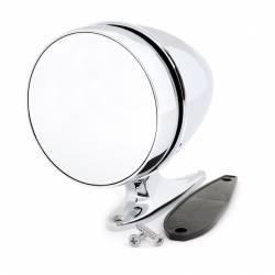 Body - Mirrors - All Classic Parts - 65-68 Mustang Outside Mirror, Bullet, Long Base