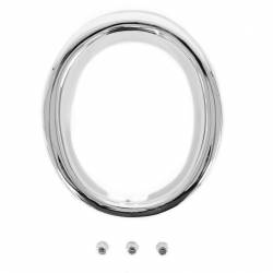 Exhaust - Hardware - All Classic Parts - 65-66 Mustang GT Exhaust Ring, Deluxe, Chrome