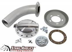 Stang-Aholics - 65 - 68 Mustang Fastback Mach 1 Style Fuel Cap Kit with Recess Plate