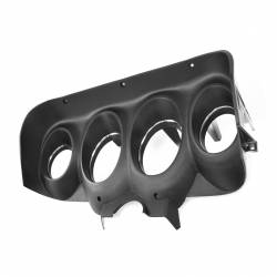 Dash - Instrument Bezels - All Classic Parts - 69 Mustang Instrument Bezel, Black Camera Case Finish