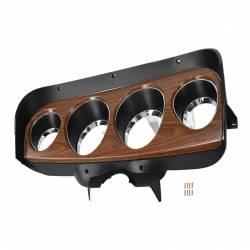 Dash - Instrument Bezels - All Classic Parts - 69 Mustang Instrument Bezel, Deluxe w/ Stamped Steel Woodgrain Panel