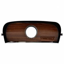 Dash - Dash Panels - All Classic Parts - 69-70 Mustang Dash Trim w/ Clock Opening, Woodgrain