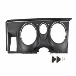 Dash - Instrument Bezels - All Classic Parts - 71-73 Mustang Instrument Bezel, Black Camera Case Finish