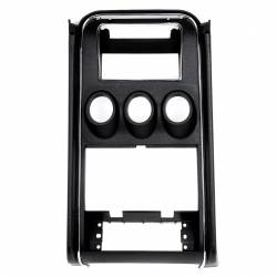 Dash - Dash Panels - All Classic Parts - 71-73 Mustang Dash Trim Center w/ Gauge Holes, Standard Black
