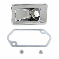 Body - Mirrors - All Classic Parts - Early 69 Mustang Outside Mirror, Remote Control Bezel