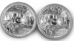"Electrical & Lighting - Headlights - Stang-Aholics - 65 - 68, 70 - 73 Classic Mustang 7"" OE7 Round Chrome Projector Headlight"