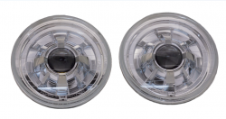 "Electrical & Lighting - Headlights - Stang-Aholics - 65 - 68, 70 - 73 Classic Mustang 7"" LED SEVEN Round Projector Headlight"
