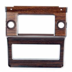 Dash - Radio & Related - All Classic Parts - 69-70 Mustang Radio Bezel w/ Woodgrain Decal