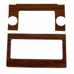 Dash - Radio & Related - All Classic Parts - 69-70 Mustang Radio Bezel Woodgrain Decal Only