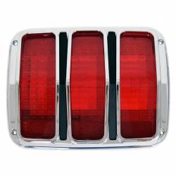 Electrical & Lighting - Tail Lights - All Classic Parts - 65 - 66 Mustang Tail Light Assembly (Bezel, Lens & Both Gaskets), Fits RH or LH