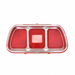 Electrical & Lighting - Tail Lights - All Classic Parts - 71-73 Mustang Tail Light Lens w/Bezel, Fits RH or LH