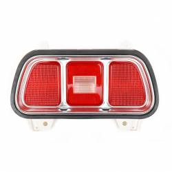 Electrical & Lighting - Tail Lights - All Classic Parts - 71 - 73 Mustang Tail Light Assembly (Lens, Gasket, Housing, Bezel), Fits RH or LH