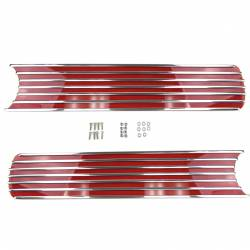Electrical & Lighting - Tail Lights - All Classic Parts - 65-66 Mustang Tail Light Panel Finned Grille