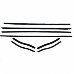 Weatherstrip - Window - All Classic Parts - 65-66 Mustang Window Felt Weatherstrip Kit, Coupe/Convertible (8 Pcs)