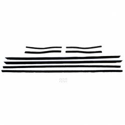 Weatherstrip - Window - All Classic Parts - 67-68 Mustang Window Felt Weatherstrip Kit, Convertible (8 Pcs)