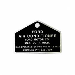 A/C & Heating - A/C & Heating Components - All Classic Parts - 64-73 Mustang A/C Compressor Tag (Metal) - Ford Official Licensed Product