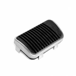 Pedals - Pads & Trim - All Classic Parts - 65-73 Mustang Brake Pedal Pad w/ SS Trim, (Drum, Manual)