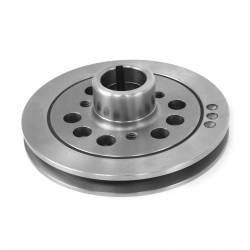Engine - Engine Pulleys & Brackets - All Classic Parts - 65 - 70 Mustang Crankshaft Damper/Pulley, 170/200, 3 Bolt Hub, Single V