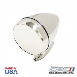 Body - Mirrors - California Pony Cars - Rotunda Style Bullet Mirror, Chrome Finish CONVEX for 65 - 67 Mustangs