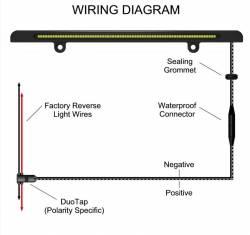 Miscellaneous - Universal LED License Plate Back Up Light, Satin Black - Image 7