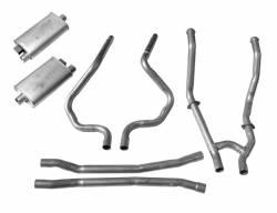Kits - Dual - Scott Drake - 64 - 68 Mustang Dual Exhaust Kit