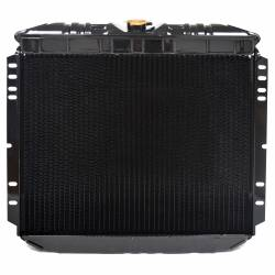 """All Classic Parts - 69-70 Mustang Radiator, V8 302/351 w/o AC (6Cyl 250) LH Out, 20"""" - Copper 3 Row Large Tube - Image 4"""