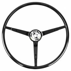 Steering Wheel & Related - Steering Wheels - All Classic Parts - 65 - 66 Mustang Steering Wheel ONLY, Standard, Black