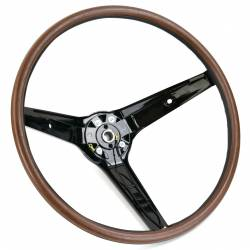 Steering Wheel & Related - Steering Wheels - All Classic Parts - 69 Mustang Steering Wheel Woodgrain Rim-Blow w/ Horn Switch (Also fits Australian Falcon)