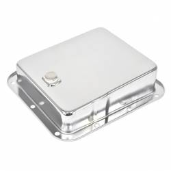 Transmission - Pan - All Classic Parts - 65-81 Mustang Transmission Pan (OEM Type) w/ Drain Plug, C4, Chrome