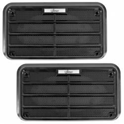 Door Panels & Related - Speaker Grilles - All Classic Parts - 69-70 Mustang Door Speaker Grille, OE-Correct Metal Mesh, PAIR