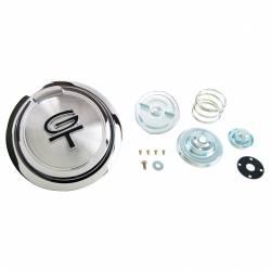 Fuel System - Caps & Doors - All Classic Parts - 67 Mustang Pop-Open Gas Cap (Includes Twist Cap & Hardware) w/ Black GT Emblem