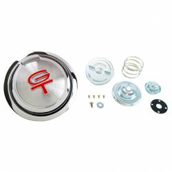 Fuel System - Caps & Doors - All Classic Parts - 68 Mustang Pop-Open Gas Cap (Includes Twist Cap & Hardware) w/ Red GT Emblem