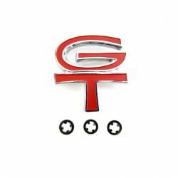 Fuel System - Caps & Doors - All Classic Parts - 68 Mustang Gas Cap Emblem, GT Red