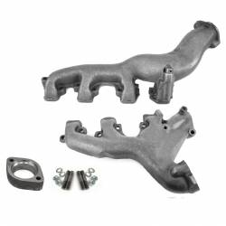 All Classic Parts - 68-70 Mustang Exhaust Manifolds w/ Spacer, 428 Cobra Jet, PAIR, Premium Centrifugal Casting