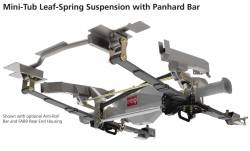 Suspension Kits - Rear Kit - Total Control Products - 64-70 Mustang TCP Mini Tub Leaf Spring Rear Suspension with Panhard Bar