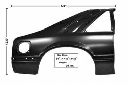 1979-1993 Mustang Parts - 1979-1993 New Products - Dynacorn - 91 - 93 Mustang Complete Quarter Panel (RH)