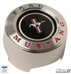 California Pony Cars - 1965-1966 Mustang Deluxe Wood Wheel Horn Button