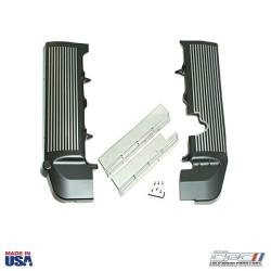 2005-2009 Mustang Parts - 2005-2009 New Products - NXT-GENERATION - 2005 - 2010 Finned Fuel Rail Covers, Black W/ Gunmetal Fins