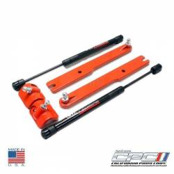 Hood - Hinge - NXT-GENERATION - 2011 - 2014 Mustang V6/Gt Gas Strut Hood Lift Kit Competition Orange
