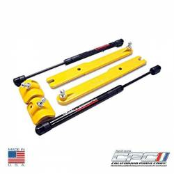 Hood - Hinge - NXT-GENERATION - 2011 - 2014 Mustang V6/Gt Gas Strut Hood Lift Kit School Bus Yellow