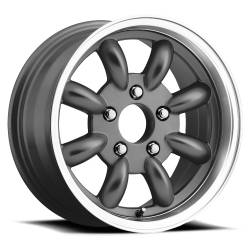 Wheels - 15 Inch - Legendary Wheel Co. - 65 - 73 Mustang LW80 15x7 T/A Style Alloy Rim - Charcoal Finish