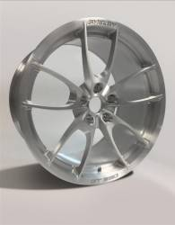 Wheels - 19 Inch - Shelby Wheel Co - 15 - 20 Mustang GT350 and GT350R ONLY 19 X 10.5 CS 21 Style Shelby Wheels, Brushed Aluminum