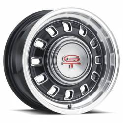 Wheels - 15 Inch - Legendary Wheel Co. - 65 - 73 Mustang 15 X 7 LW60 GT8 Wheel, BLACK Finish, 5 X 4.5""