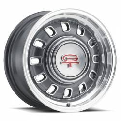 Wheels - 15 Inch - Legendary Wheel Co. - 65 - 73 Mustang 15 X 7 LW60 GT8 Wheel, CHARCOAL Finish, 5 X 4.5""
