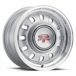 Wheels - 15 Inch - Legendary Wheel Co. - 65 - 73 Mustang 15 X 7 LW60 GT8 Wheel, SILVER Finish, 5 X 4.5""