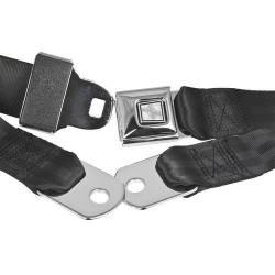 """Seats & Components - Seat Belts - RetroBelt USA - 65 - 73 Mustang 60"""" Lap Belt, Push Button Buckles, Choose Color"""