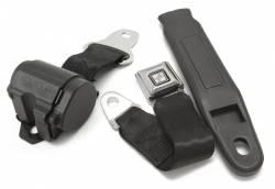 Seats & Components - Seat Belts - RetroBelt USA - 65 - 73 Mustang Retractable Front Lap Belt, Push Button Buckles, Choose Color