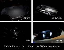 Electrical & Lighting - Interior Lights - Diode Dynamics Lighting - 2015 - 2017 Mustang Interior LED Conversion Kit-Stage 1, Choose Color