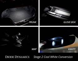 Electrical & Lighting - Interior Lights - Diode Dynamics Lighting - 2015 - 2017 Mustang Interior LED Conversion Kit-Stage 2, Choose Color