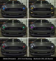 2015-2020 Mustang Parts - 2015-2020 New Products - Diode Dynamics Lighting - 2015 - 2017 Ford Mustang Multicolor DRL LED Boards